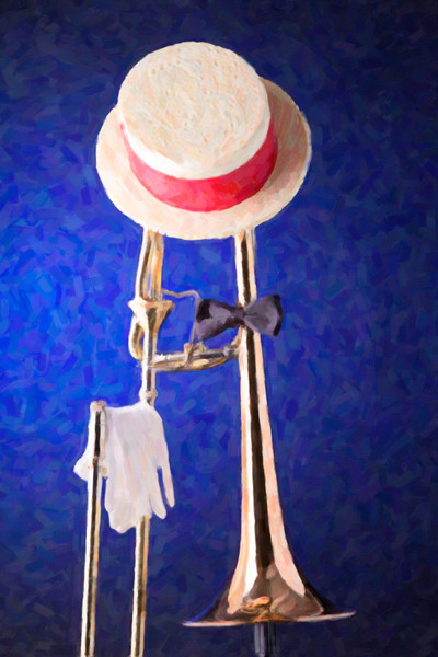 Dixieland Hat and Trombone Painting 2603.03