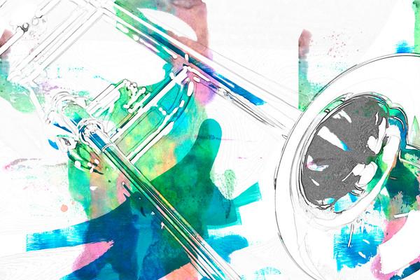 Canvas Art Trombone Painting 2603.01