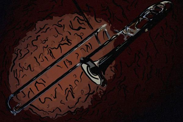 Trombone on BrownPainting 2603.13