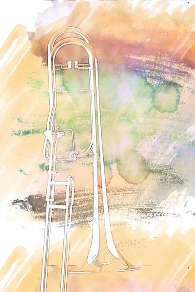 Trombone in Haze Painting 2603.12
