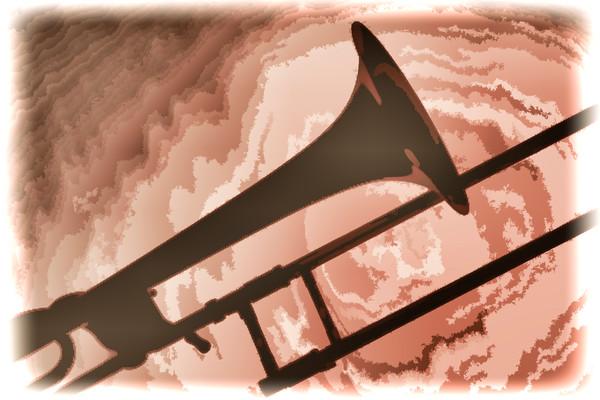 Weird Trombone Silhouette Metal Wall Art 2603.15