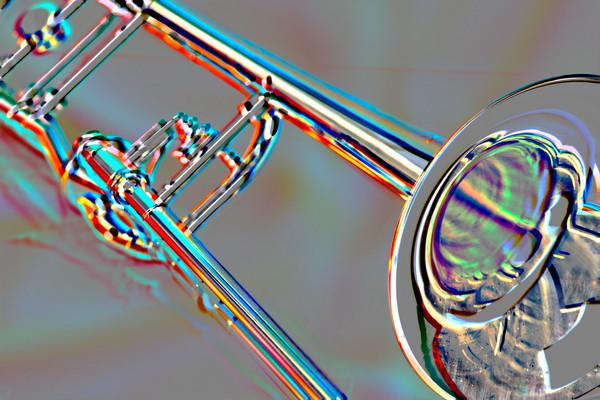 Canvas Art Trombone Embossed 2604.30