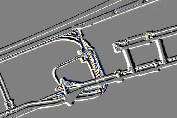 Music Art Rotor Trombone Embossed 2604.33