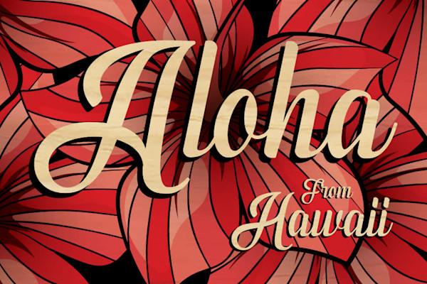 Wood Postcards | Aloha From Hawaii Hibiscus