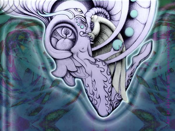 Dakini Angel - Sticker