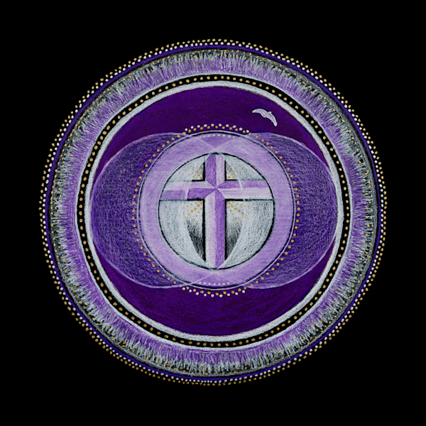 Christianity Third Eye Chakra fine art print by Laural Virtues Wauters.