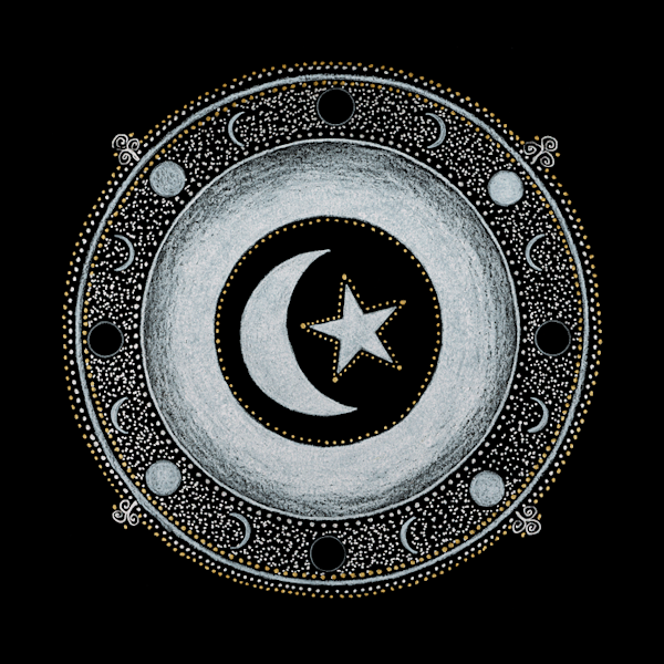 Islam Crown Chakra fine art print by Laural Virtues Wauters.