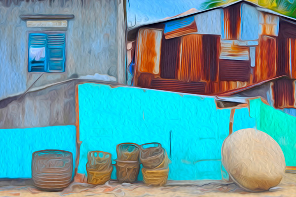 fishing baskets and a fixer upper in Nah Trang