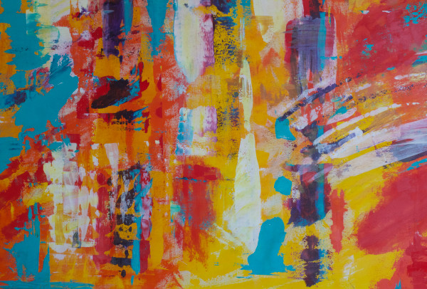 warm-colors-abstract-art|art-for-the-home|Lesley Koenig