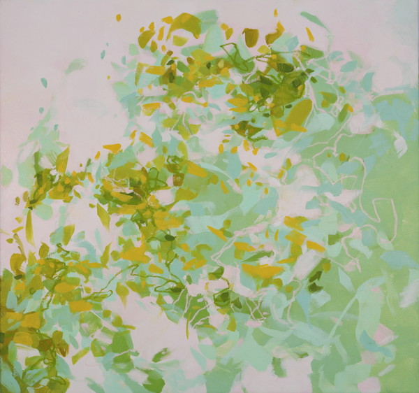 First Buds (Nature's Migrations), archival pigment print of oil on canvas, 2017