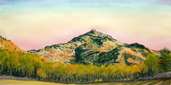 'Spring Sunset Camels Hump' Bolton Valley Art for Sale