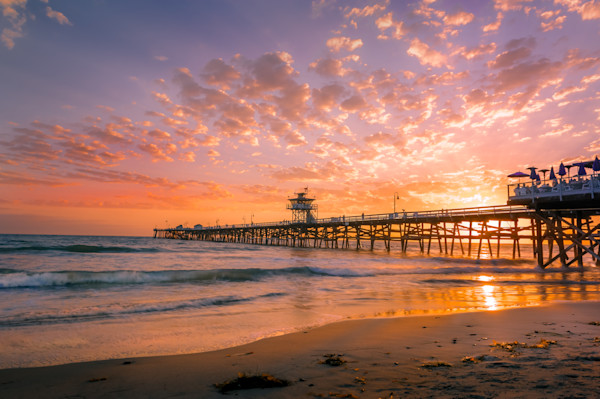Sunset at San Clemente Pier California