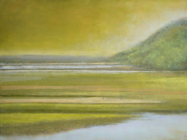 Canary Cove Abstract Marsh Painting by Victoria Primicias