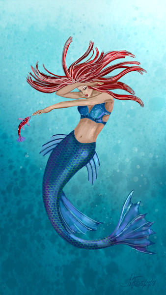 Mermaids and Fairies Art Prints and Paintings by Leslie's Art Studio