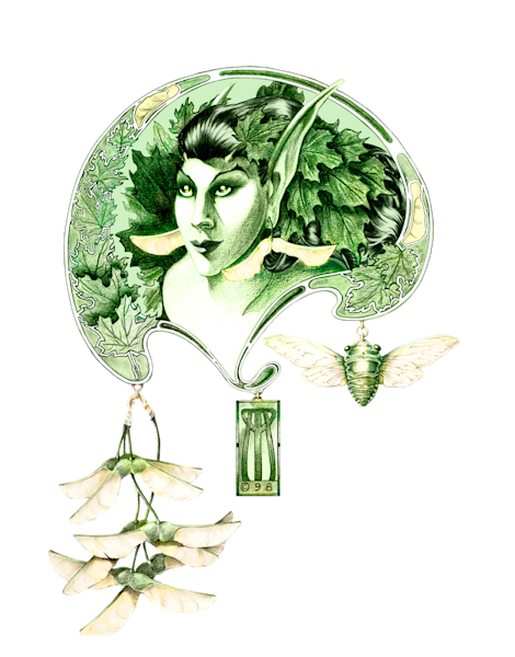 Dryad with Cicada
