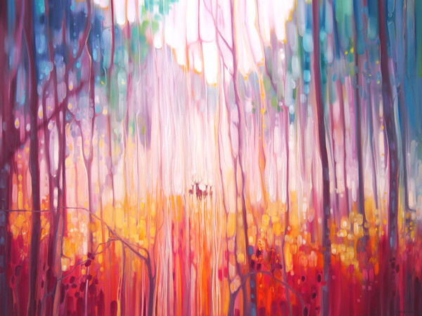 Elusive - deer in a misty forest
