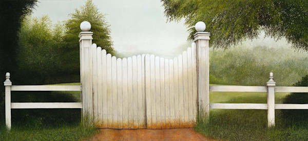England, fence gate, scan