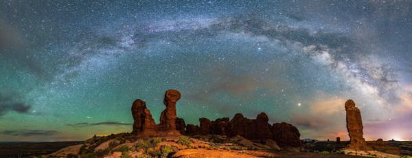 Milky Way over the Garden of Eden