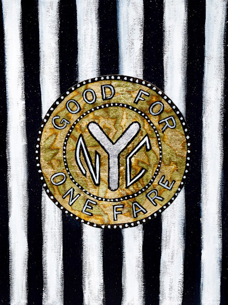 Striped NYC Subway Token
