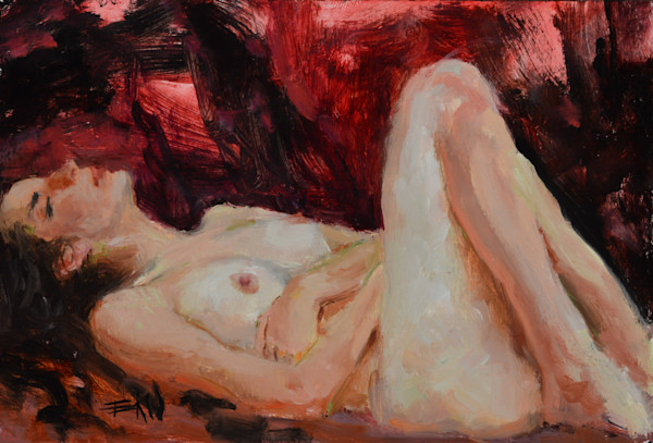 """""""Dreaming"""" 4x6in. oil on panel by Eric Wallis"""