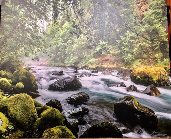 Mossy rock Oregon River