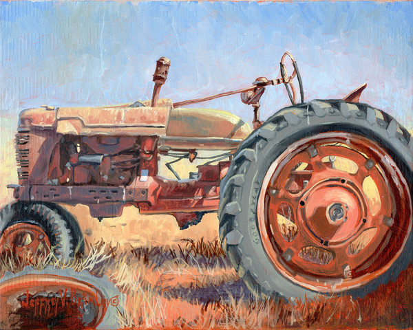 Grand Dads old country tractor prints
