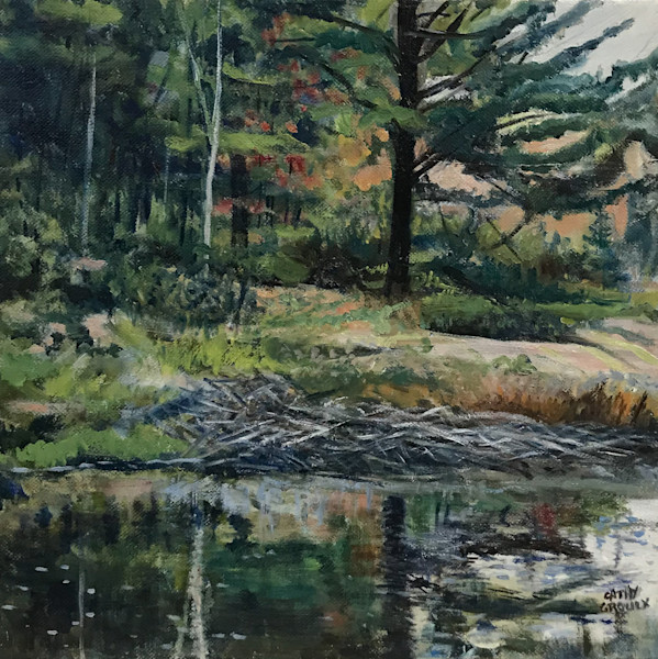 Beavers Hiding by Cathy Groulx | SavvyArt Market original oil painting