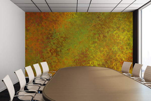 Liquid Hues Illustration Abstract Art, Digital Artwork - Decorative Wall Mural