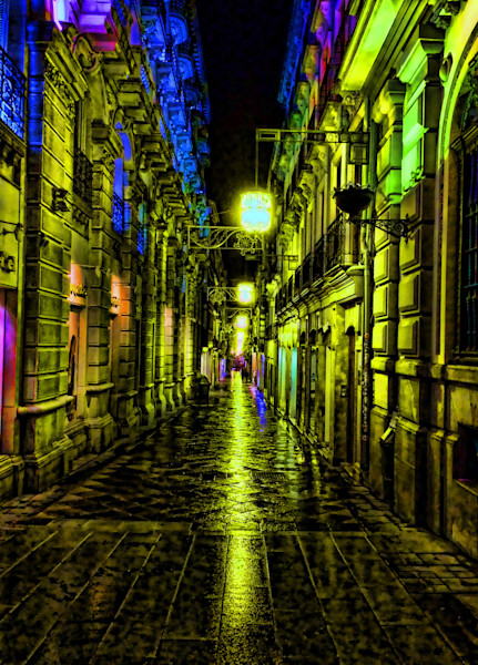 Granada Street At Night|Fine Art Photography by Todd Breitling|Graffiti and Street Photography|Todd Breitling Art