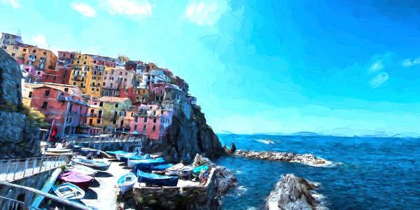 Coastal Landscape Manarola, CinqueTerri, Italy vg