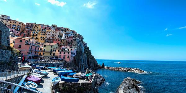Coastal Landscape Manarola, CinqueTerri, Italy