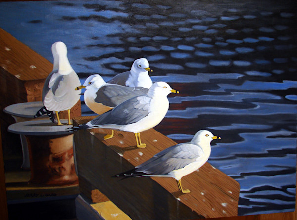 Gulls on the Dock of the Bay
