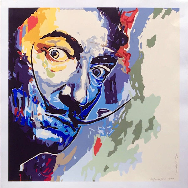 Hipnosis Salvador Dali Painting by Artist Karla de Lara Limited Edition Seriegraph for Sale - Wet Paint NYC Gallery