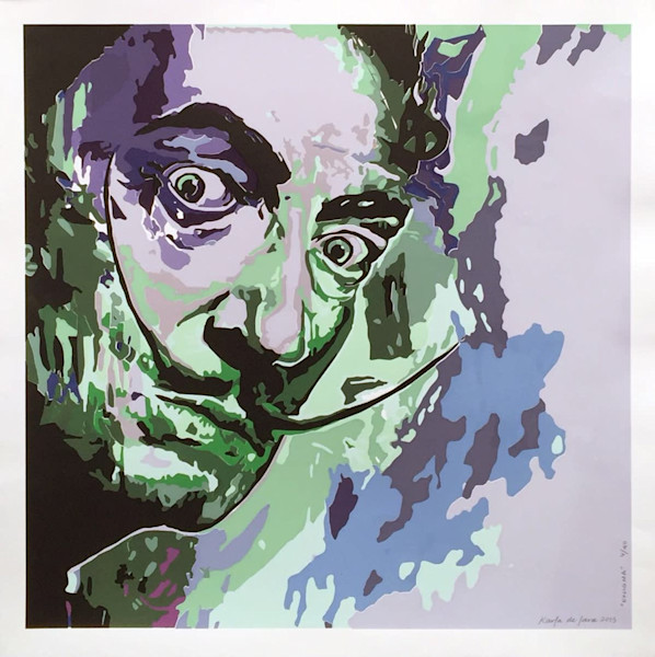 Enigma Salvador Dali Seriegraph for Sale - Artist Karla de Lara - Wet Paint NYC Limited Edition