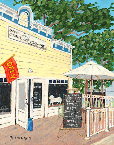 The Creamery fine art print by Barb Timmerman.