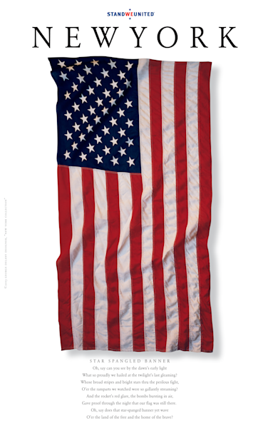 New York Star-Spangled Banner Poster