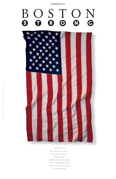 Boston Strong AMERICA Poster by George Delany