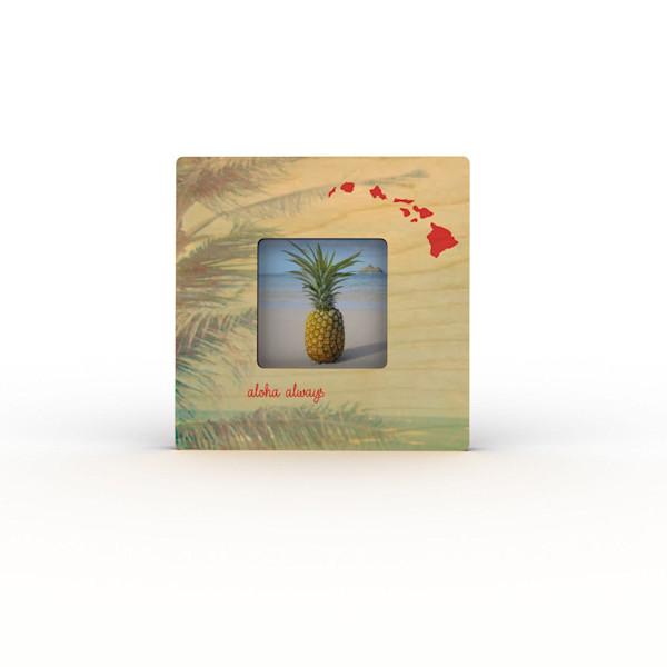 Palm Leaf Islands Mini Frame