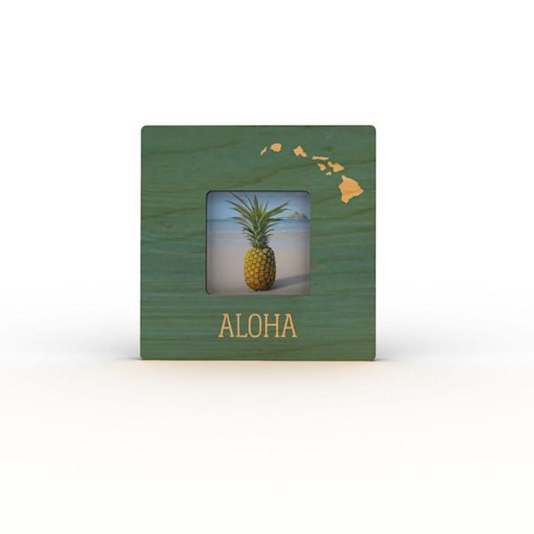 Teal Aloha Islands Mini Frame