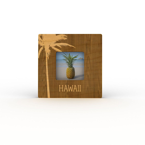 Palm Silhouette Hawaii Mini Frame