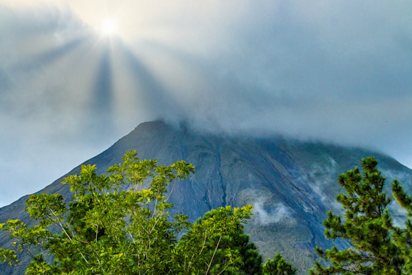 Sun Rays on Mt Arenal