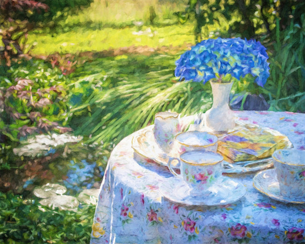 A Garden Table for Two