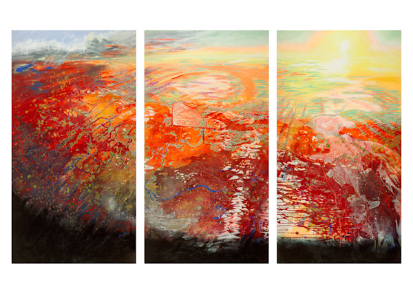 This Sacred Place - Triptych on Cotton Rag