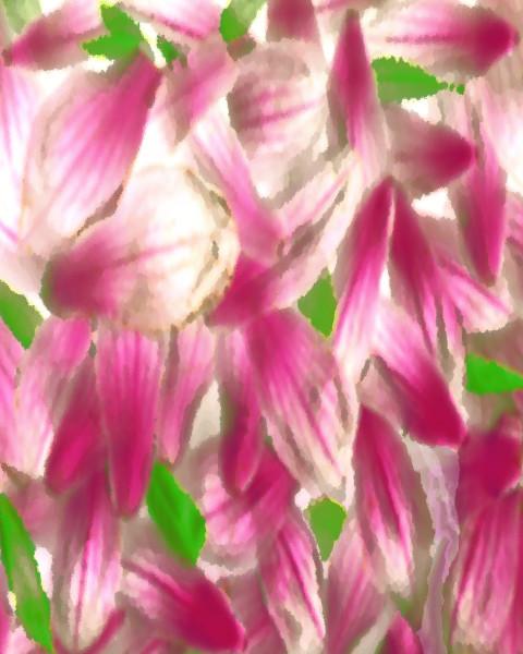 Floral digital collage / Fine art / Khrysso Heart LeFey / Magnolia Petals After a Storm / Affordable quality prints