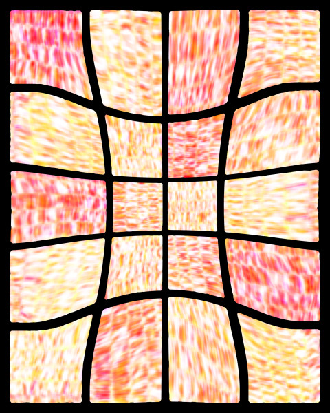 Hot citrus abstract digital collage / Fine art by Khrysso Heart LeFey / Curved Basketweave II in Orange / Affordable quality prints in custom media