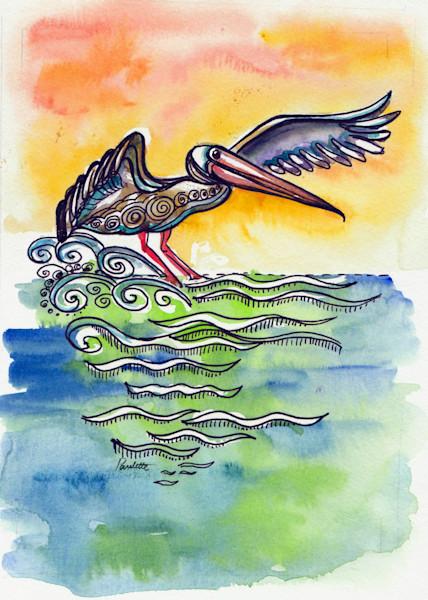 Skidding Pelican