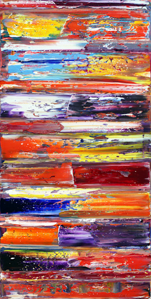 Large colorful PMS abstract painting