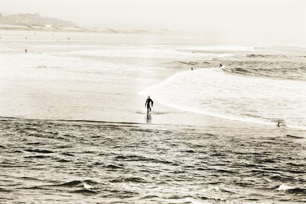Maine beach surfers