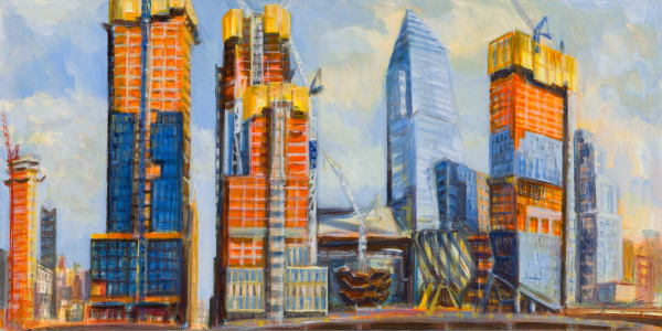 Hudson Yards Rising, August Afternoon Art Print