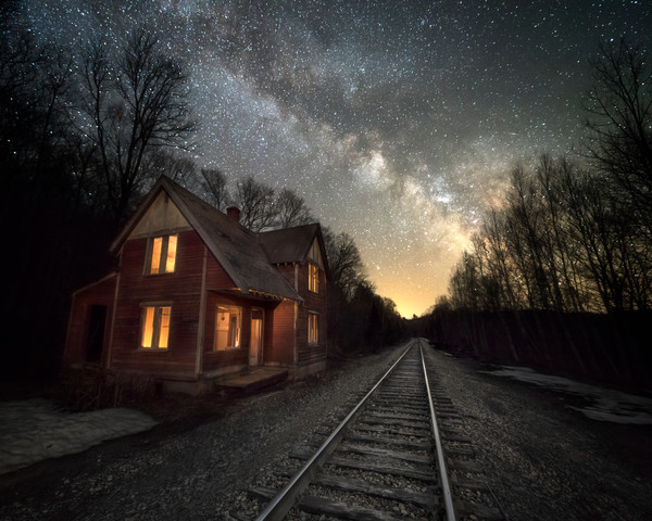 Maine, landscape, night sky, and coast photographs by Taylor Photography as fine art.